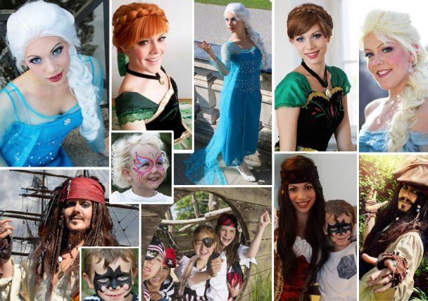 Kinder-Traumparty mit Elsa, Anna, Captain Jack Sparrow